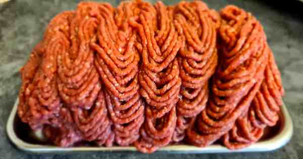 Minced locally reared beef