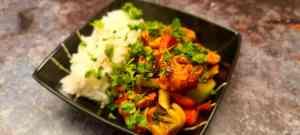 Kung Pao Chicken, Rice and Coriander