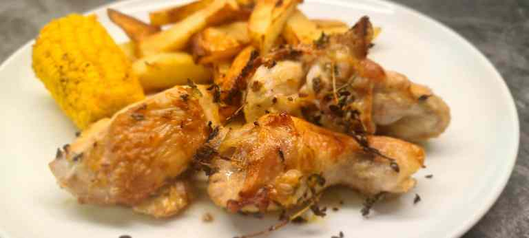 Read more about the article Quick Roast Chicken with Lemon, Thyme and Garlic