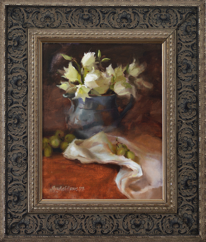 Yucca in Silver Pitcher