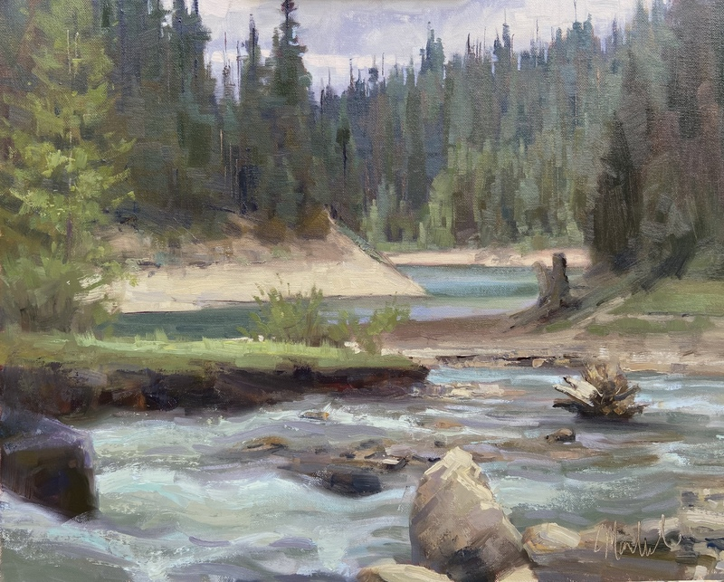 "Creek at Hungry Horse Lake 16""x20"" $2200"