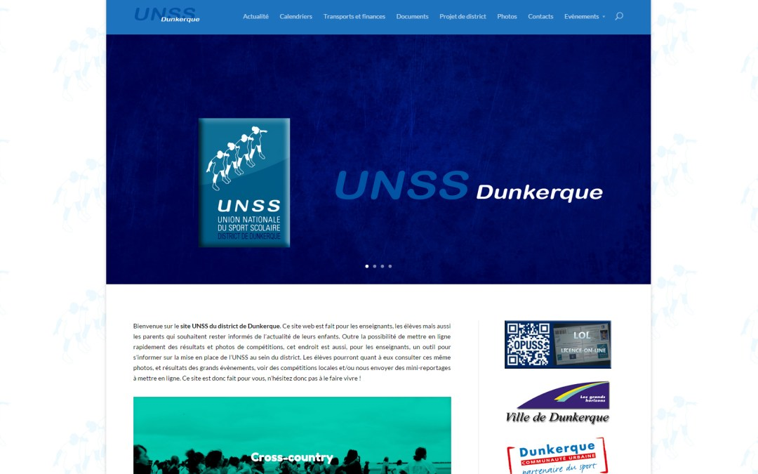 Site du district UNSS Dunkerque