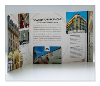 Création de plaquette, brochure, pour entreprise du bâtiment