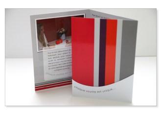 Création plaquette / porte document carte de visite - sur mesure pour profession libérale - secteur santé