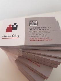 création carte de visite pour avocat - professions libérales - By Com' Empreintes
