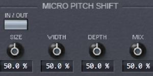 Micro Pitch Shift & Stereo Delays