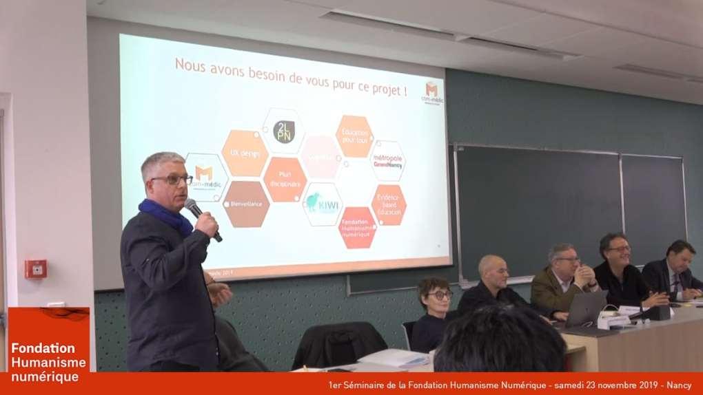 présentation du séminaire fondation humanisme numérique