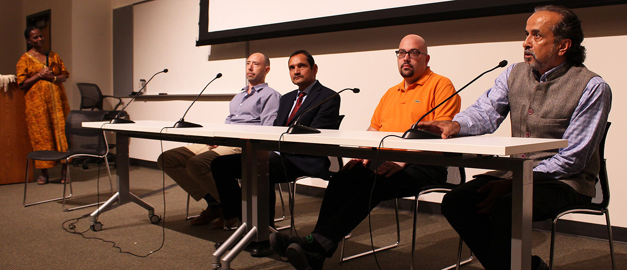 From left to right: Tsitsi Wakhisi, Dr. Michael Touchton, Dr. Rajesh Kumar Garg, Scott Alboum, and Sanjeev Chatterjee.