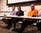 From left to right: Tsitsi Wakhisi, Dr. Michael Touchton, Dr. Rajesh Kumar Garg, Scott Alboum, and Sanjeev Chatterjee.