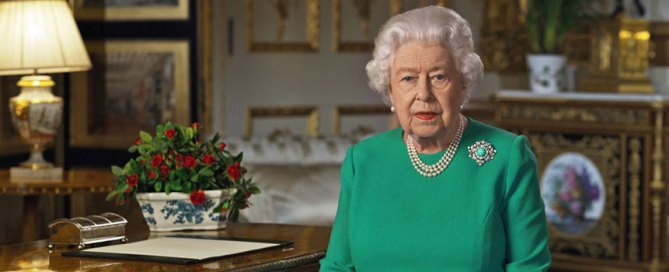 "Queen Elizabeth II made a rare address Sunday, April 5, calling on Britons to rise to the challenge of the coronavirus pandemic, to exercise self-discipline in ""an increasingly challenging time."" Photo: Buckingham Palace via Associated Press"