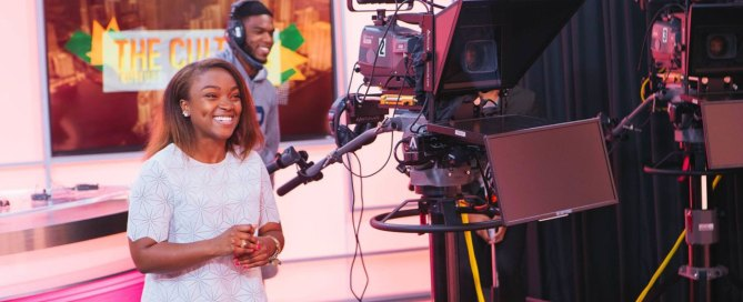"""Rachel Smith on the set of """"The Culture."""""""