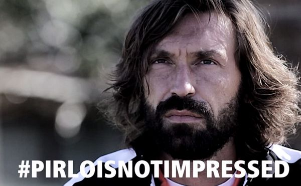 Pirlo's reaction to the first half.