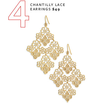 Chantilly Lace Earrings - $49
