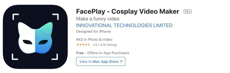 download FACEPLAY - ที่ดาวน์โหลดแอป FACEPLAY สำหรับ iPhone, iPad