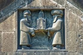 Armenia, rilievo in pietra, monastero di Haghpat
