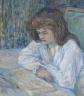 Toulouse-Lautrec retrata en «La lectora» (1889) a Hélène Vary, su vecina en Montmatre.