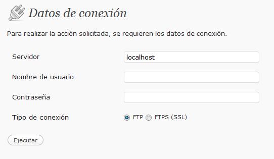 Desactivar FTP en WordPress