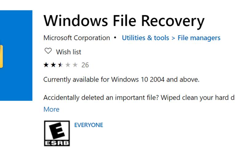 Recupera archivos borrados con Windows File Recovery