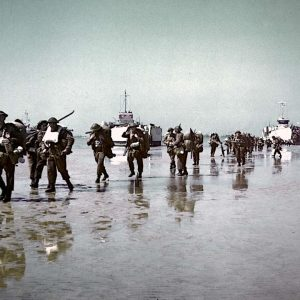 Juno Beach, Canadian infantry on the beach 6 June 1944 [1180]