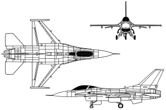 US Air Force F-16 Fighting Falcon Schematic [thumb]