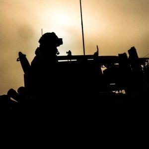US Marine Corps with 50 Cal Machin Gun, Ex Northern Wind, Sweden, 21-03-19 (Menelik Collins) ref190321-M-PR541-830C[1180]