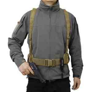 OneTigris Waist Belt with X-shaped Suspenders Airsoft Combat