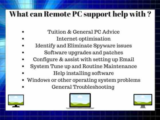 Remote Computer Support Chard Somerset