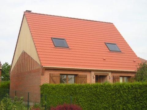 Nouvelle pente de toit