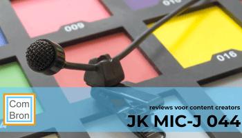 Review van de JK Mic-J 044 lapelmicrofoon.