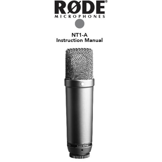 Rode NT1-A microfoon.