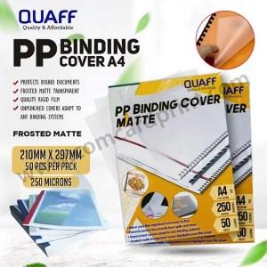 Quaff PP Binding Cover A4 | 250 microns 50 Sheets