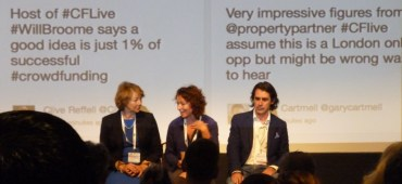 My tweet behind a panel session