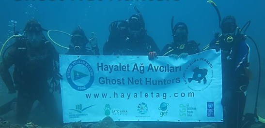 """The """"Ghost Net Busters"""" project aims to protect biodiversity and improve ecosystem services in the region by educating stakeholders about the environmental dangers of using ghost nets, and by identifying and removing existing ghost nets. Thus far, approximately 5 hectares of seascape was cleared of ghost nets, allowing for rehabilitation of that environment."""