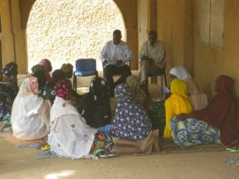 Interviews were held with local women to gather information on local small scale farming activities.