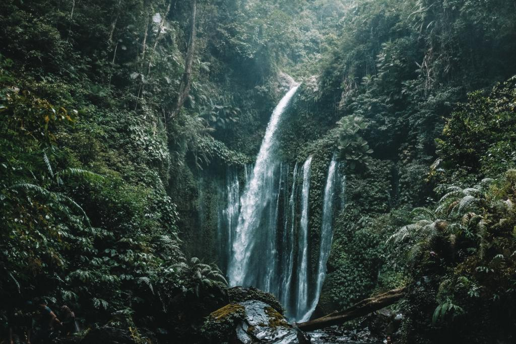 Lombok waterfall rainforest Indonesia come2indonesia tours
