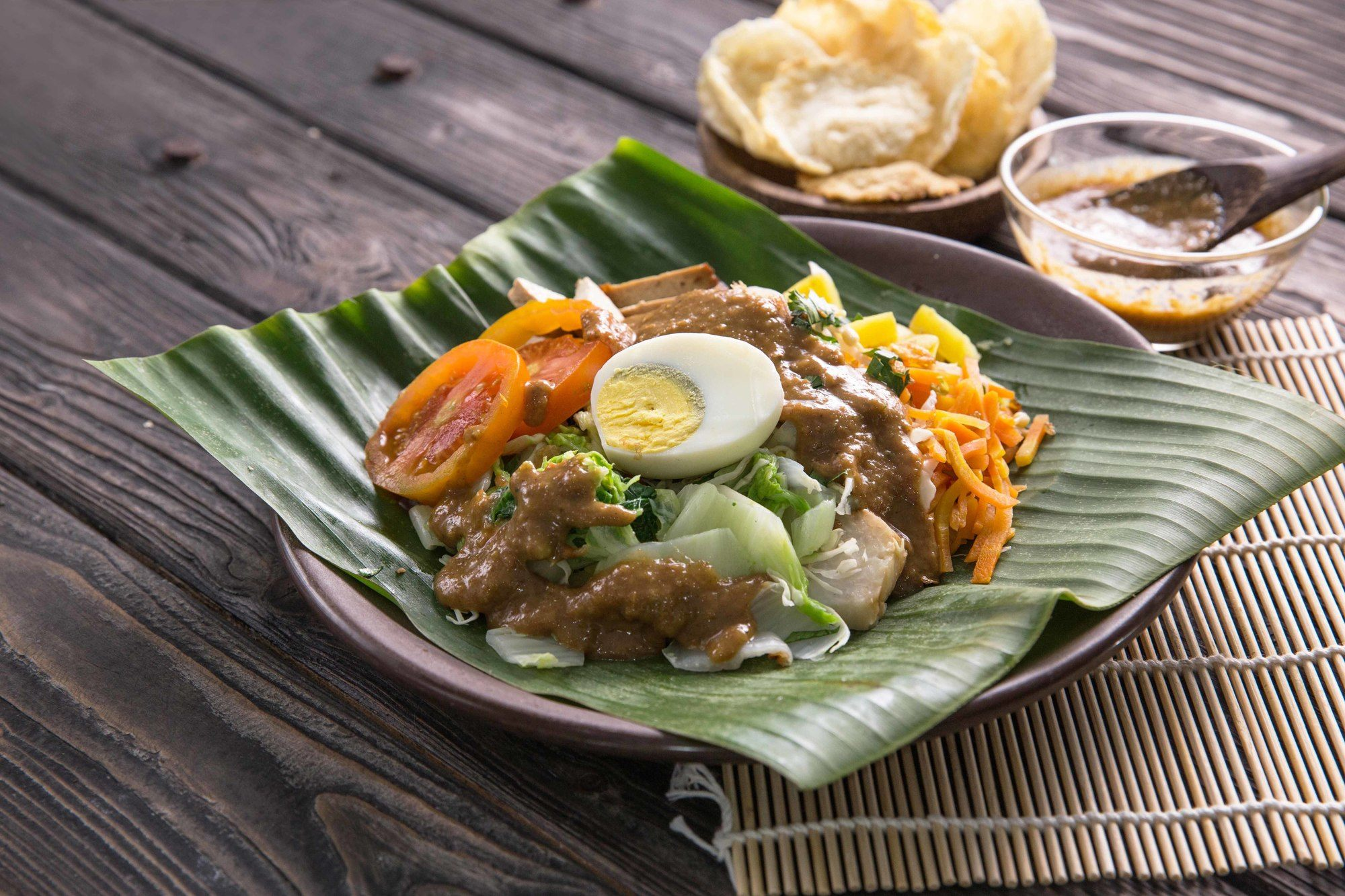 Traditional Indonesian food: gado-gado