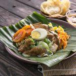 Traditional Indonesian food: gado-gado