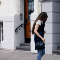 Slip Dress and Striped T-Shirt