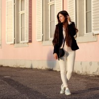 Office Blazer, Pastels + Reebok Sneaker