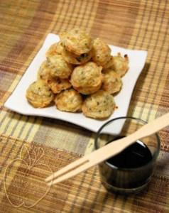 Demi sphères de crevettes sauce en aigre doux (2)
