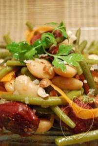 Salade tiède haricots verts et blancs gésiers confits (7)