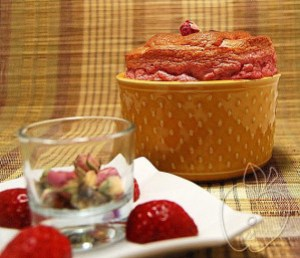 Soufflé de fresas y rosa (25)