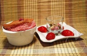 Soufflé de fresas y rosa (7)