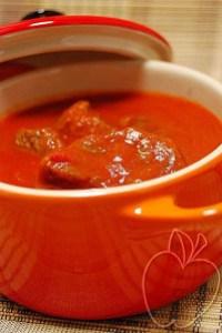 Ternera coulis de pimientos rojos (4)