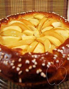 Tarta brioche de manzana y membrillo (6)