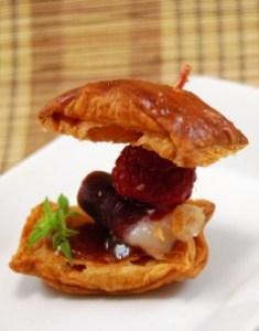 Croissants de jamón de pato y mermelada de frambuesa (19)