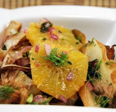 Ensalada templada de hinojo asado y naranja (3) - copia