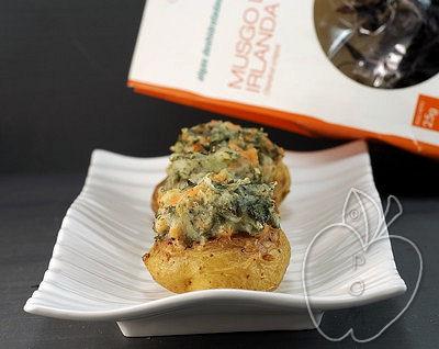 Patatas rellenas de musgo de Irlanda y salmón ahumado (3)