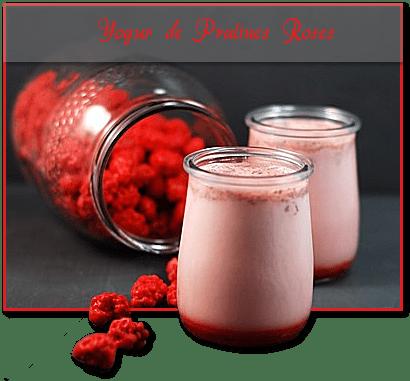 Yogur de pralines roses