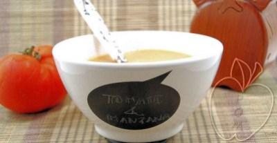 Crema de tomate y manzana con ricotta (6)